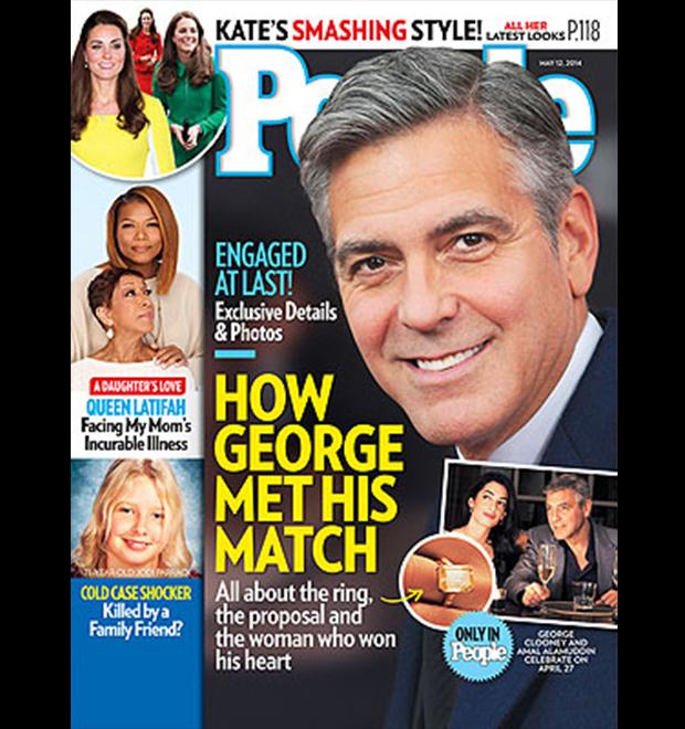 George Clooney pediu a namorada em casamento de joelhos