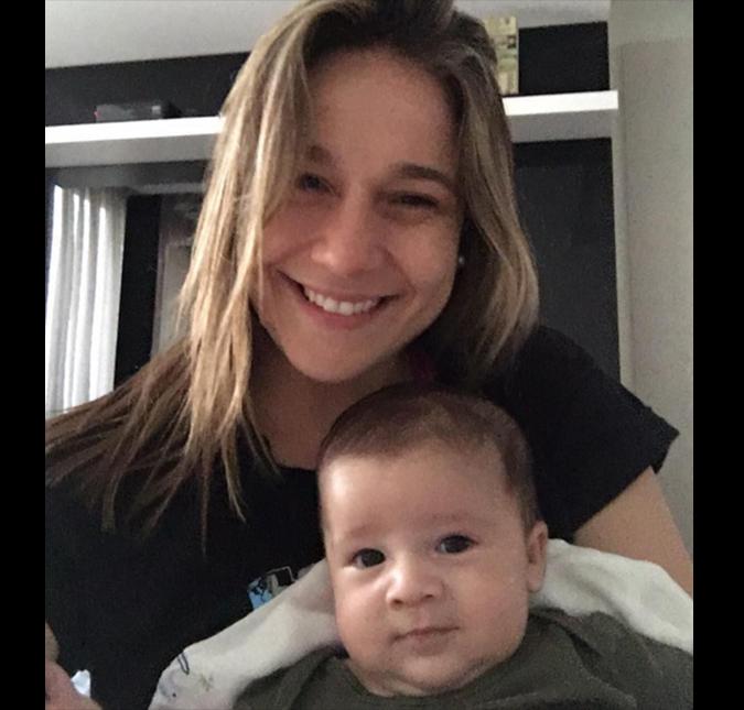1d270d48a O marido da apresentadora publicou uma imagem dela e do filho na  segunda-feira, dia 16, no Instagram