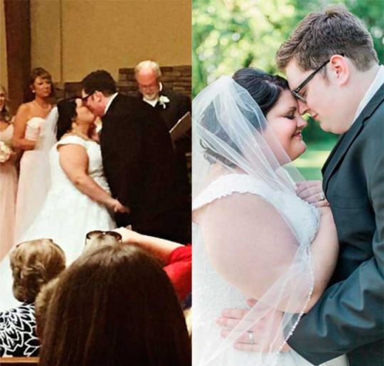 Jordan Smith and Kristen Denny's wedding day picture