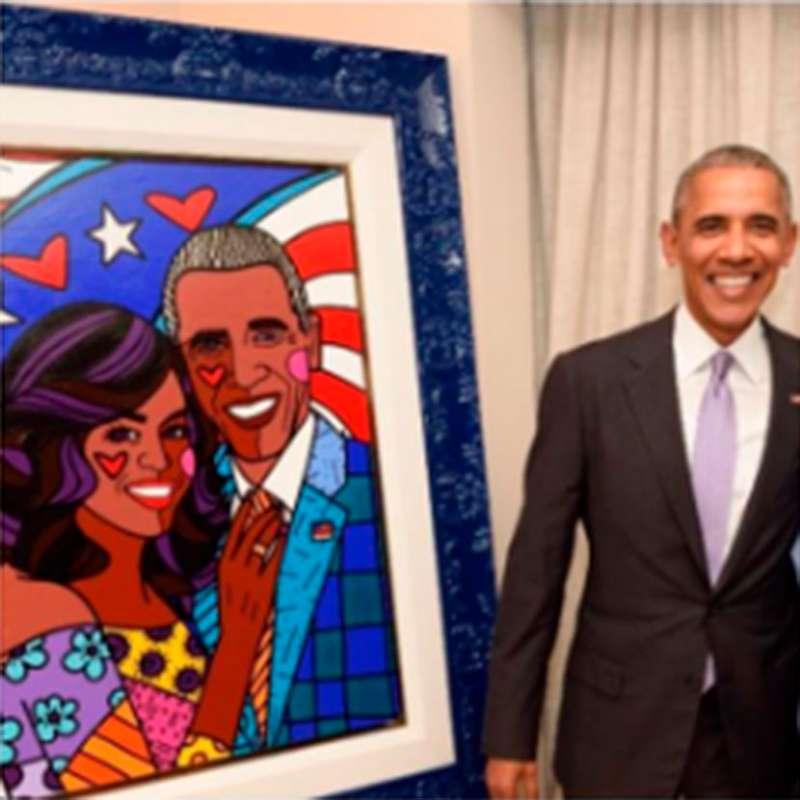 Barack Obama Recebe Desenho Feito Por Romero Britto Veja Quem Sao