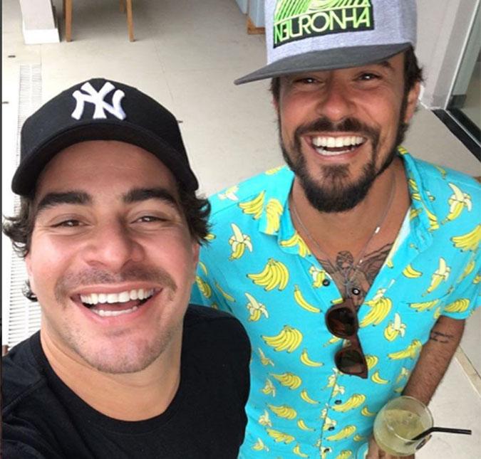 0365a4f44 Thiago Martins zoa camiseta usada por Paulinho Vilhena