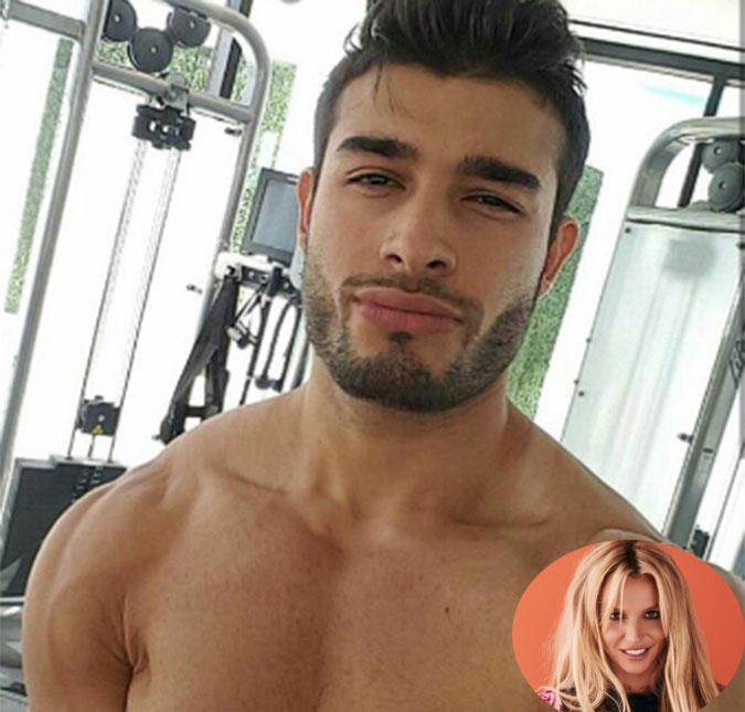 A cantora publicou uma imagem de Sam Asghari na academia e fez uma pequena  declaração de amor 9d3a7dcde5