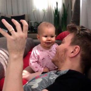 Melinda aprova a nova música do pai, Michel Teló, em vídeo para lá de fofo!