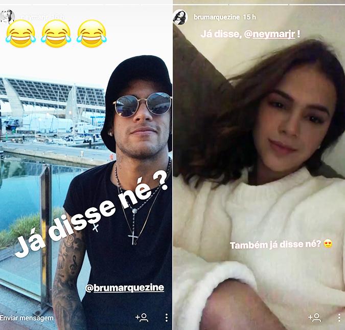 ebd361f594b Bruna Marquezine e Neymar trocam mensagens carinhosas nas redes ...