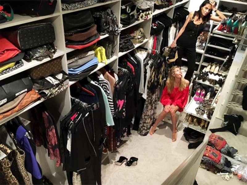7f585602d7902 Heidi Klum, Ana Hickman, Chris Brown... Eles têm os armários dos sonhos!