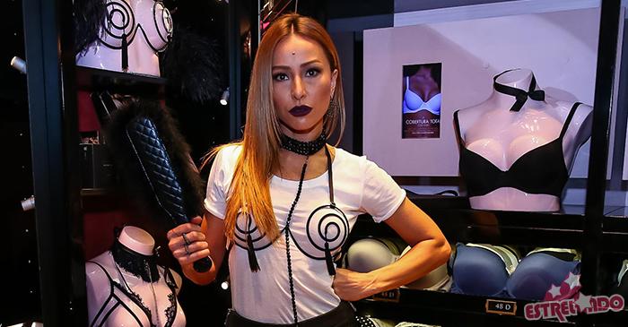 29ca83ad1f097 Sabrina Sato escolhe look sugestivo para lançamento de linha de lingerie