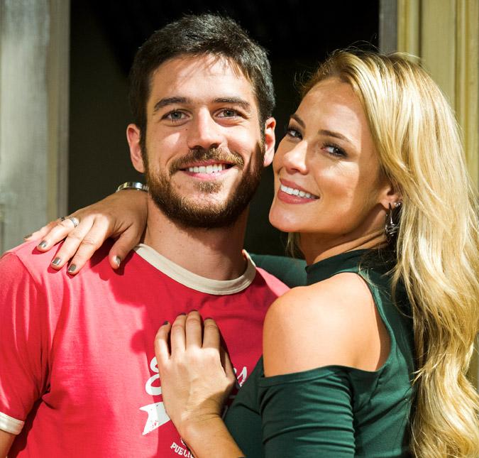 d0d57fd33 Paolla Oliveira e Marco Pigossi fazem graça dançando nos bastidores ...