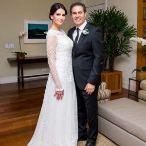 Lisandra Souto se casa pela segunda vez e exibe vestido de noiva, veja!