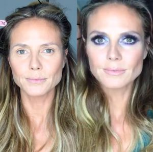 Heidi Klum exibe o poder da maquiagem em vídeo, confira!