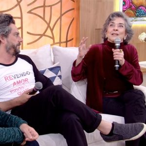 Betty Faria e Alexandre Nero discutem sobre pensão alimentícia no Encontro