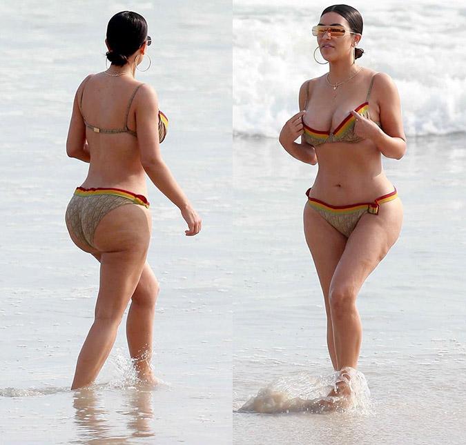 Kim Kardashian fica chateada após ver fotos de seu corpo