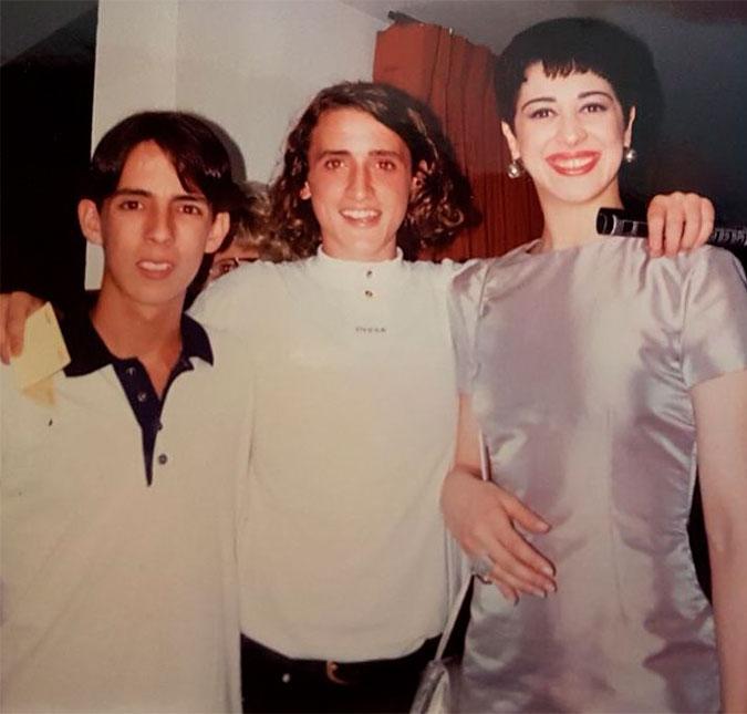 4e12e5a83 Paulo Gustavo impressiona pela cabeleira em foto antiga com Claudia ...