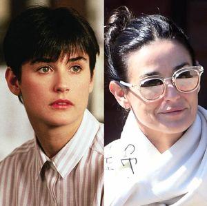 Demi Moore. Foto do site da Entretenimento R7 que mostra Nos 55 anos de Demi Moore, confira o antes e o depois do elenco de Ghost  Do Outro Lado da Vida!