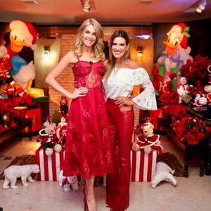 Ana Hickmann. Foto do site da Entretenimento R7 que mostra Ana Hickmann arma festa de Natal com a presença de Ticiane Pinheiro e Rafaella Justus, confira as fotos!