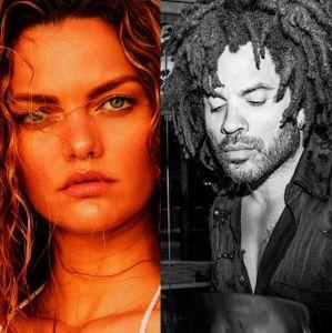 Barbara Fialho. Foto do site da Entretenimento R7 que mostra Lenny Kravitz está namorando modelo brasileira Barbara Fialho. Confira as celebridades que começaram 2018 namorando!