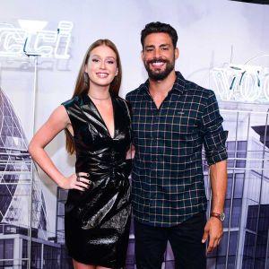 Marido Marina. Foto do site da Entretenimento R7 que mostra Marina Ruy Barbosa troca beijos com marido em evento de moda, veja as fotos!