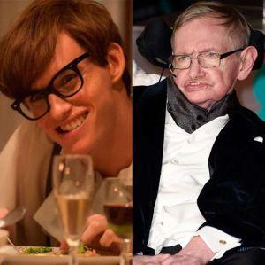 Hawking. Foto do site da Entretenimento R7 que mostra Eddie Redmayne faz declaração sobre a morte de Stephen Hawking, papel que lhe rendeu o Oscar. Veja os famosos que já interpretaram personagens reais!