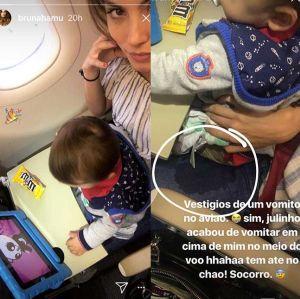 Bruna. Foto do site da Entretenimento R7 que mostra Bruna Hamú relata incidente com o filho durante voo