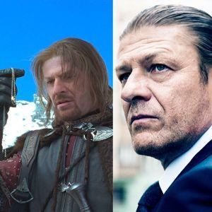 Foto do site da  que mostra Compare os atores de O Senhor dos Anéis fora de caracterização!