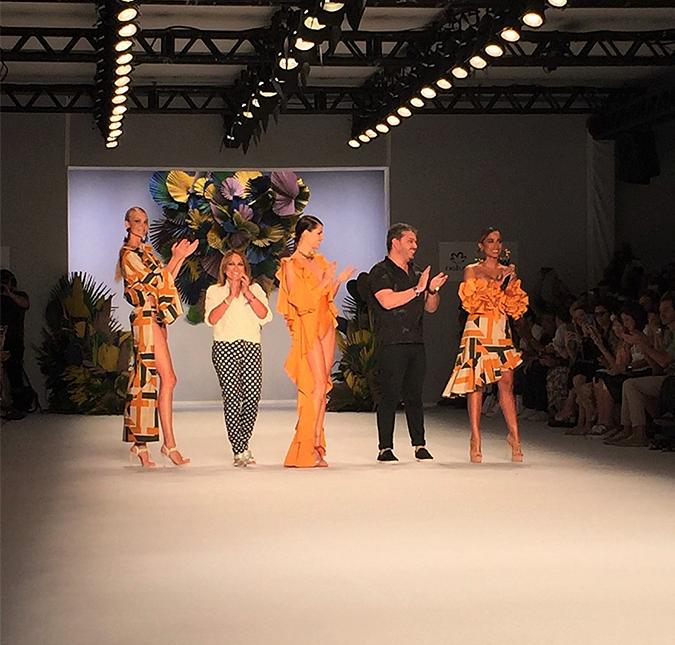 Paulo. Foto do site da Entretenimento R7 que mostra Primeiro dia de São Paulo Fashion Week traz Anitta e quebra padrões com modelos, entenda!