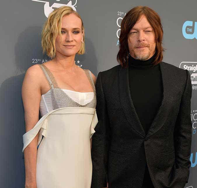 O astro de The Walking Dead assumiu o namoro com a atriz no Globo de Ouro  2018 51c094d423