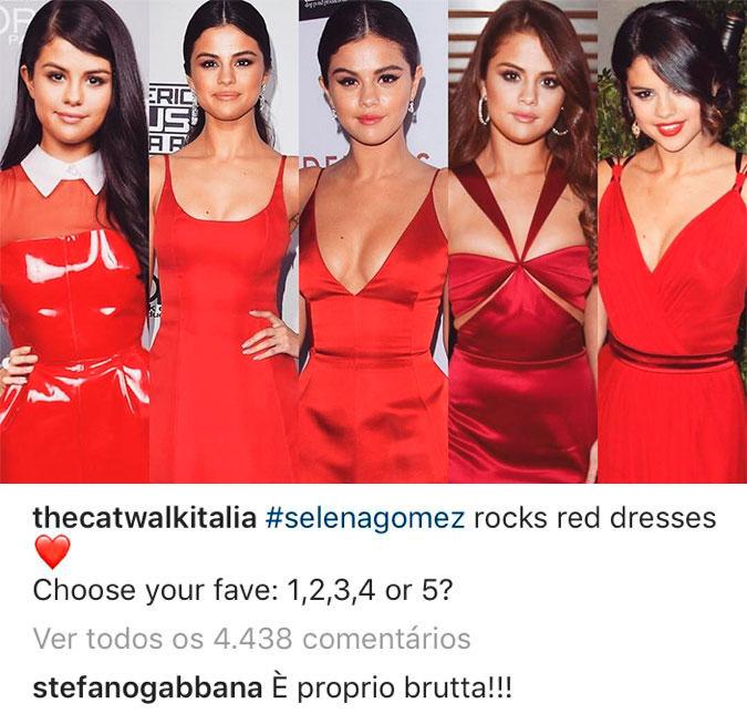 19f3e5effdeb9 Stefano Gabbana chamou a cantora de feia e teve que lidar com a fúria dos  selenators