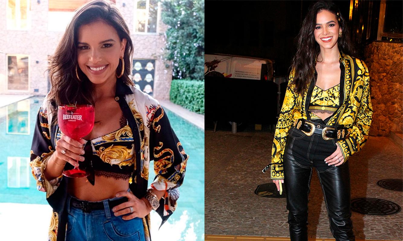cdb01f4f1 A namorada de Neymar compareceu à festa de Marina Ruy Barbosa com o  modelito, enquanto Mariana apostou na peça para o seu aniversário