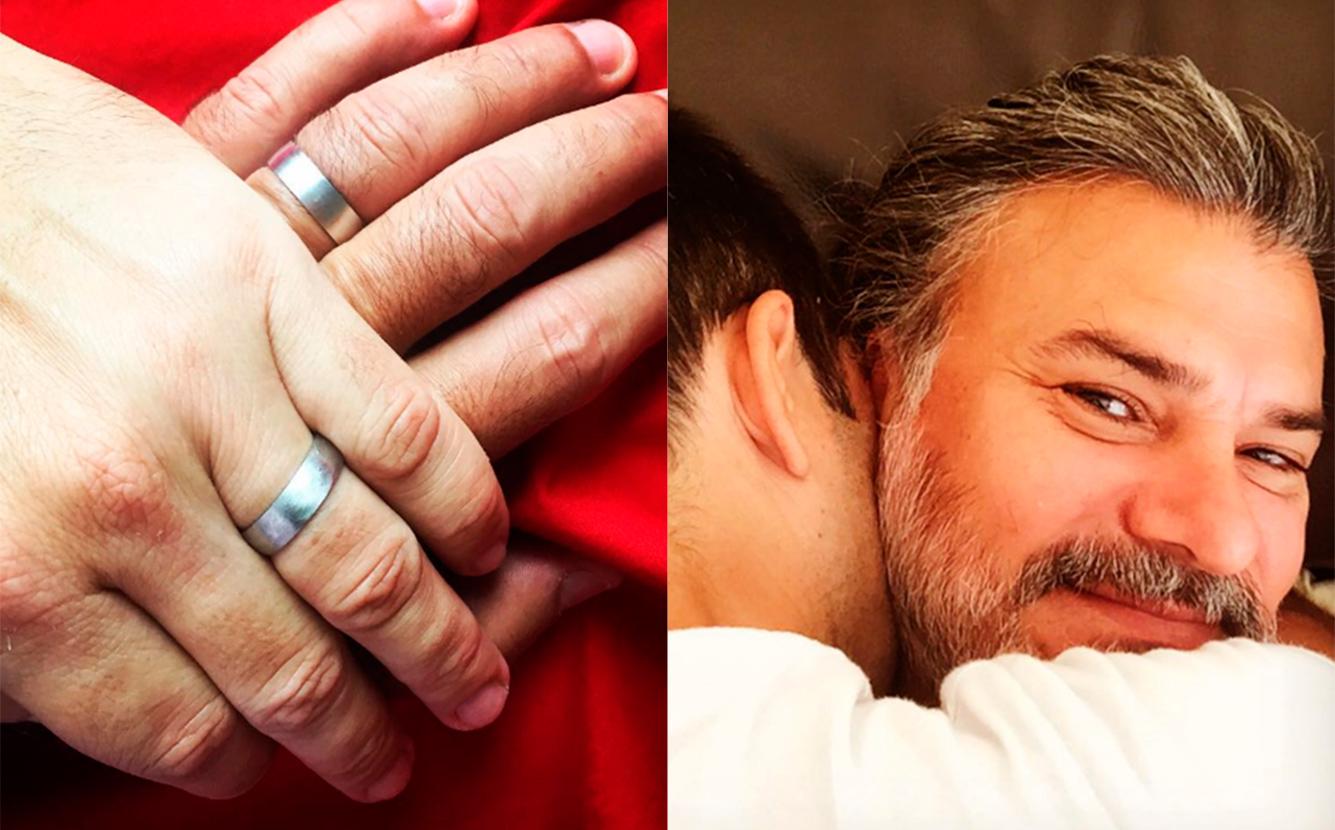 2b236c57b9 Leonardo Vieira troca alianças com namorado e enche a internet de ...