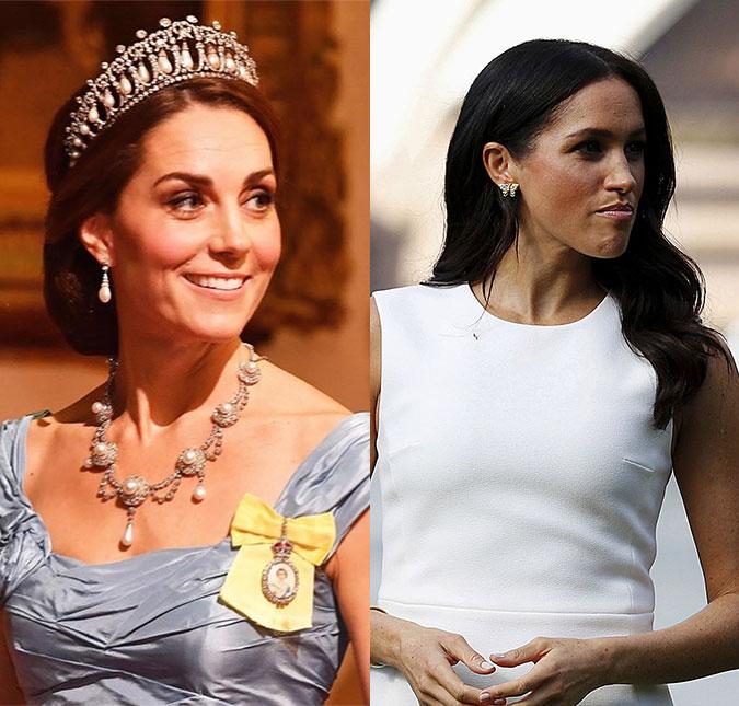confira algumas das joias de lady di que ja foram usadas por kate middleton e meghan markle estrelando kate middleton e meghan markle