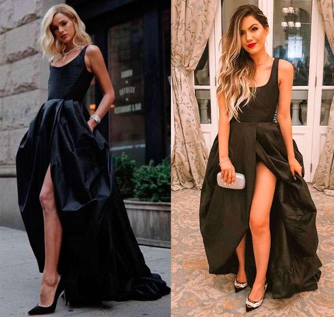 Vestido azul e preto fantastico