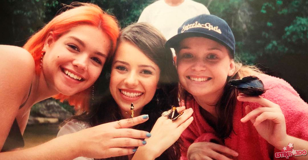 Fernanda Rodrigues publica foto antiga ao lado de Sandy e Thais Fersoza em gravações de Estrela Guia - Estrelando