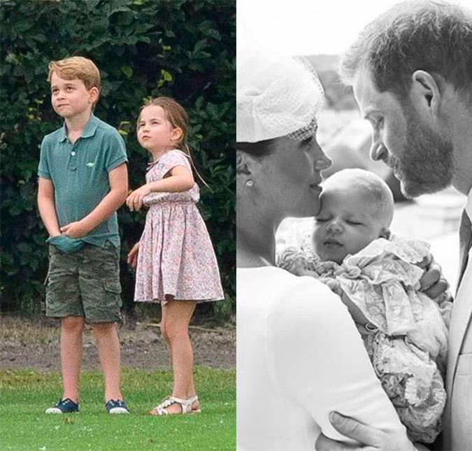 filhos de kate middleton e principe william so conheceram o priminho archie harrison dois meses apos o nascimento dele estrelando filhos de kate middleton e principe
