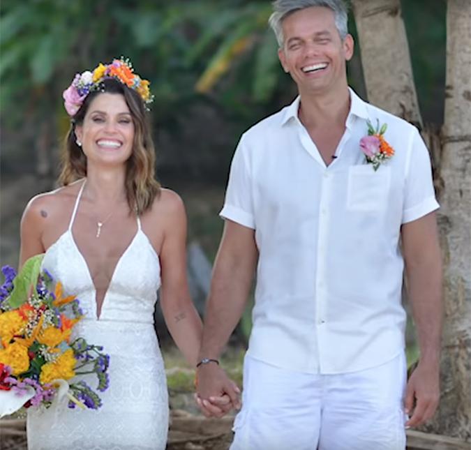 Flávia Alessandra e Otaviano Costa compartilham vídeo inédito de quando  casaram na praia, assista! - Estrelando