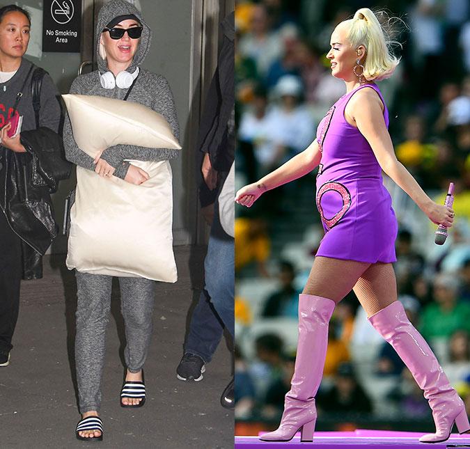 Katy Perry esconde a barriga com travesseiro, revela se ...