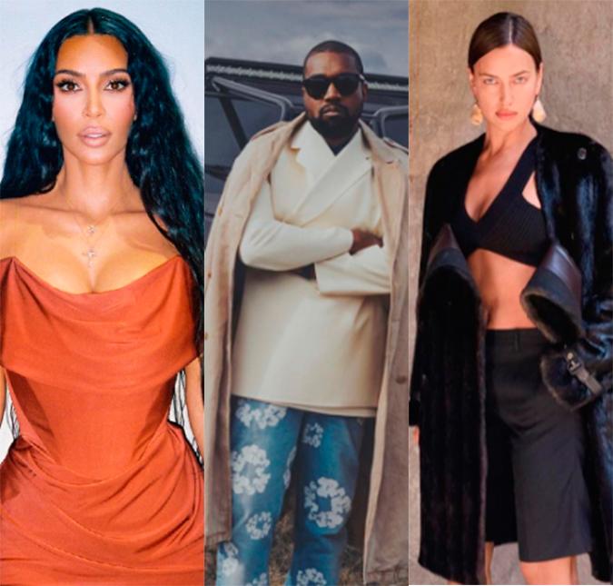 Kim Kardashian fica surpresa após Kanye West e Irina Shayk serem vistos  juntos na França, diz site - Estrelando